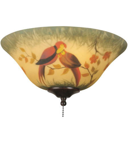 Fanimation Light Kit Glass Fan Accessory in Hand-Painted Parrot G439 photo