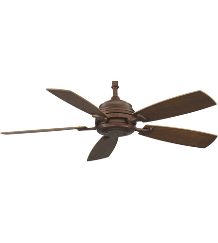 Fanimation HF6050MH Hubbardton 9 inch Mahogany with Coffee Blades Ceiling Fan photo