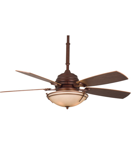 Fanimation Hubbardton Indoor Ceiling Fan in Mahogany with Coffee Blades HF6600MH photo