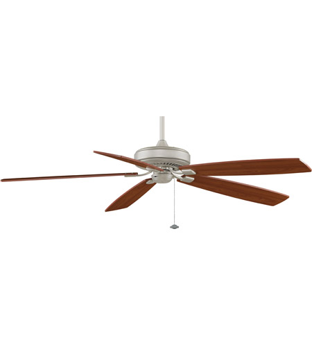 Fanimation Edgewood Indoor Ceiling Fan in Satin Nickel with Walnut/Light Walnut Blades TF721SN photo
