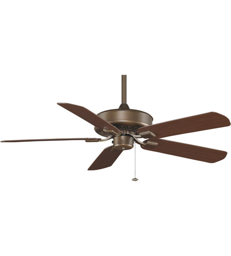 Fanimation Edgewood Outdoor Ceiling Fan in Aged Bronze with Dark Cherry Blades 220v TF910AZ-220 photo