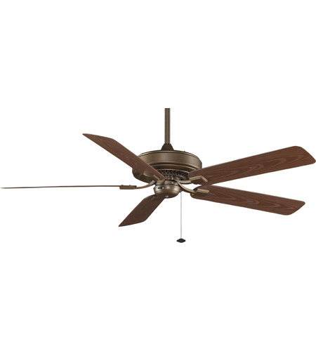 Fanimation TF971AZ Edgewood 60 inch Aged Bronze with Dark Cherry Blades Ceiling Fan in 110 Volts photo thumbnail