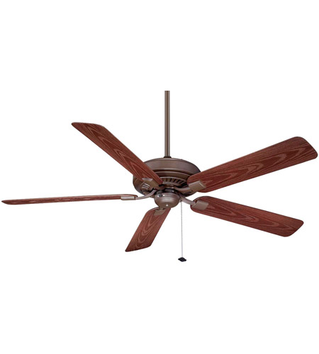 Fanimation Edgewood Outdoor Ceiling Fan in Oil-Rubbed Bronze with Dark Cherry Blades TF971OB photo