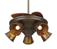 Fanimation Light Kit Glass Fan Accessory in Aged Bronze /Amber G244