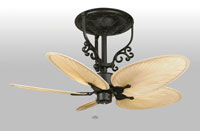Americana 17 inch Black Ceiling Fan in 220 Volts, Motor Only