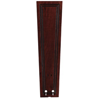 Fanimation Isle Wood Carved Rectangle Frame Wood 22in Blade Set in Dark Cherry B5132DC