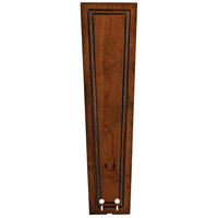 Fanimation Isle Wood Carved Rectangle Frame Wood 22in Blade Set in Rich Cognac B5132RC