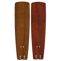 Fanimation B5133TKMH Signature Teak and Mahogany 22 inch Set of 5 Fan Blade in Teak/Mahogany