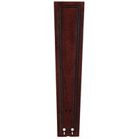 Fanimation Isle Wood Carved Rectangle Frame Wood 26in Blade Set in Dark Cherry B6132DC