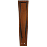 Fanimation Isle Wood Carved Rectangle Frame Wood 26in Blade Set in Rich Cognac B6132RC