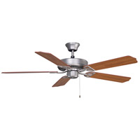 Aire Decor 52 inch Cherry/Walnut Ceiling Fan in Satin Nickel, 110 Volts