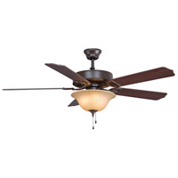 Fanimation BP220OB1 Aire Decor 52 inch Oil-Rubbed Bronze with Cherry/Walnut Blades Ceiling Fan in 4 110 Volts