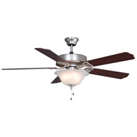 Aire Decor 52 inch Satin Nickel with Cherry/Walnut Blades Ceiling Fan in 4, 110 Volts
