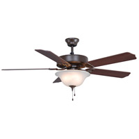 Fanimation BP225BOB1 Aire Decor Bowl 52 inch Oil-Rubbed Bronze with Cherry/Walnut Blades Indoor/Outdoor Ceiling Fan
