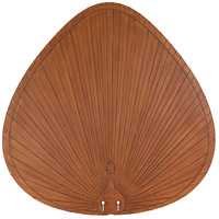 Signature Brown 22 inch Set of 5 Fan Blade in Composite Palm Brown/Red