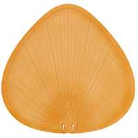 Plastic Composite Palm Tan 22 inch Set of 5 Fan Blades