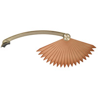 Fanimation Isle Plastic Abs Chinese Palm Blade Set in Antique Brass BPW5240AB photo thumbnail