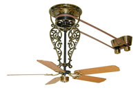 Fanimation Bourbon Long Fan Motor Only in Antique Brass FP520AB