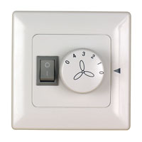 White Wall Control Fan Accessories