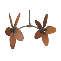 Fanimation CABPP4BR Caruso Brown 22 inch Set of 10 Fan Blade in Composite Palm Brown/Red