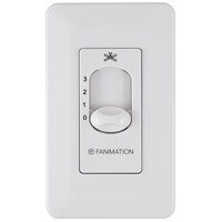 Signature White Wall Control, Fan Speed Only,Non-Reversing
