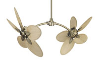 Caruso Red/Brown 18 inch Set of 10 Fan Blades