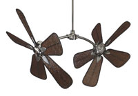 Caruso Pewter Ceiling Fan in 220 Volts, Motor Only