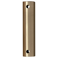 Fanimation DR1SS-18BSW Samuel Brushed Satin Fan Downrod in Brushed Satin Brass 18 inch