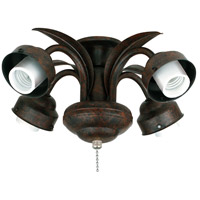 Fanimation Leaf Fitter Fan Light Kit in Rust F417RS