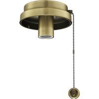 Fanimation F6AB Fitters 1 Light Antique Brass Fan Light Kit