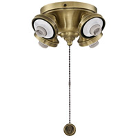 Fitters 4 Light Antique Brass Fan Light Fitter