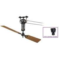 Fanimation FP1280BL-22-L1 Brewmaster Black with Oak/Walnut (sold separately) Blades Ceiling Fan, Motor Only photo thumbnail