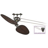 Brewmaster 8 inch Pewter Ceiling Fan in 220 Volts, Motor Only