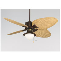 Light-Kits 1 Light Antique Finish Bamboo/White Frosted Glass Fan Light Kits