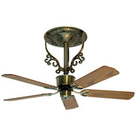 Americana 17 inch Antique Brass Ceiling Fan in 110 Volts, Motor Only