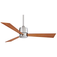 Zonix 54 inch Polished Nickel with Cherry/Walnut Blades Ceiling Fan in 110 Volts