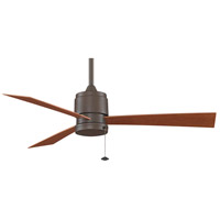 Zonix 52 inch Oil-Rubbed Bronze with Cherry Blades Ceiling Fan in 110 Volts