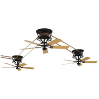 Bourbon 17 inch Black Ceiling Fan, Motor Only