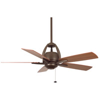 Fanimation Huxley Indoor Ceiling Fan in Oil-Rubbed Bronze with Cherry/Walnut Blades FP5620OB