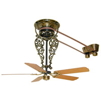 Fanimation FP580AB-18-L1 Bourbon Street Antique Brass with Oak/Walnut Blades Ceiling Fan, Motor Only