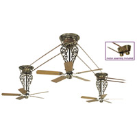 Fanimation FP580AB-18-L3 Bourbon Street Antique Brass with Oak/Walnut Blades Ceiling Fan, Motor Only