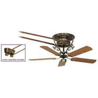 Fanimation FP580AB-18-S1 Bourbon Street 52 inch Antique Brass with Oak/Walnut Blades Ceiling Fan, Motor Only