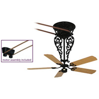 Fanimation FP580BL-18-L1 Bourbon Street Black with Oak/Walnut Blades Ceiling Fan, Motor Only