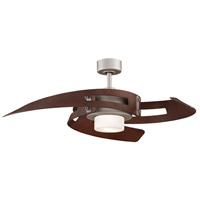 Avaston 52 inch Satin Nickel with Walnut Blades Ceiling Fan