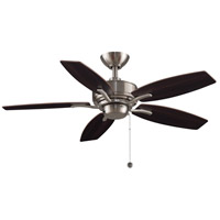 Aire Deluxe 44 inch Brushed Nickel with Cherry/Dark Walnut Blades Ceiling Fan