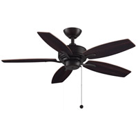 Aire Deluxe 44 inch Dark Bronze with Cherry/Dark Walnut Blades Ceiling Fan