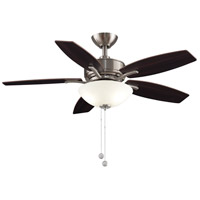 Fanimation FP6245BBN Aire Deluxe 44 inch Brushed Nickel with Cherry/Dark Walnut Blades Indoor/Outdoor Ceiling Fan photo thumbnail