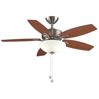 Fanimation FP6245BBN Aire Deluxe 44 inch Brushed Nickel with Cherry/Dark Walnut Blades Indoor/Outdoor Ceiling Fan alternative photo thumbnail