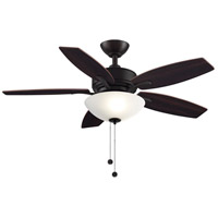 Aire Deluxe 9 inch Dark Bronze with Cherry and Dark Walnut Blades Ceiling Fan