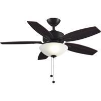 Fanimation FP6245BDZ Aire Deluxe 44 inch Dark Bronze with Cherry/Dark Walnut Blades Indoor/Outdoor Ceiling Fan